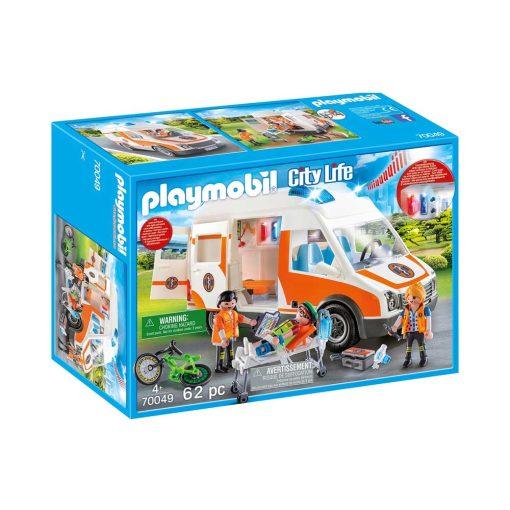Playmobil ambulance med blinklys 70049 boks