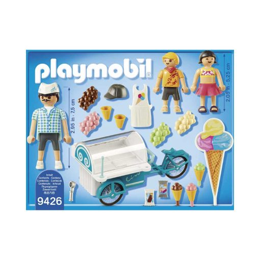 Playmobil cykel med isvogn 9426 bagside