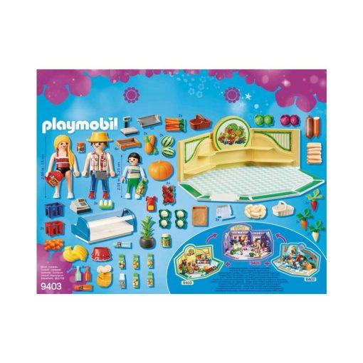 Playmobil Købmand 9403 bagside