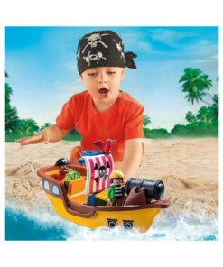 Playmobil piratskib 9118 med barn