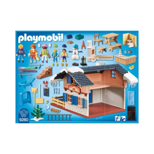 Playmobil Skihytte 9280 bagside