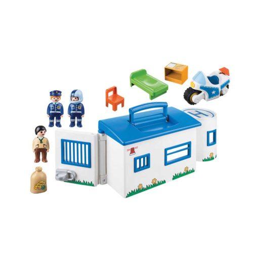 Tag med Playmobil politistation 9283 indhold