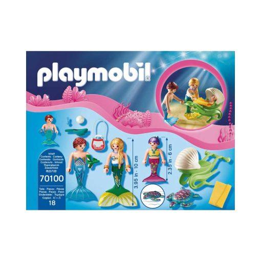 Playmobil Havfrue familie på udflugt 70100 indhold