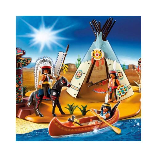 Playmobil Indianerlejr 4012 illustration