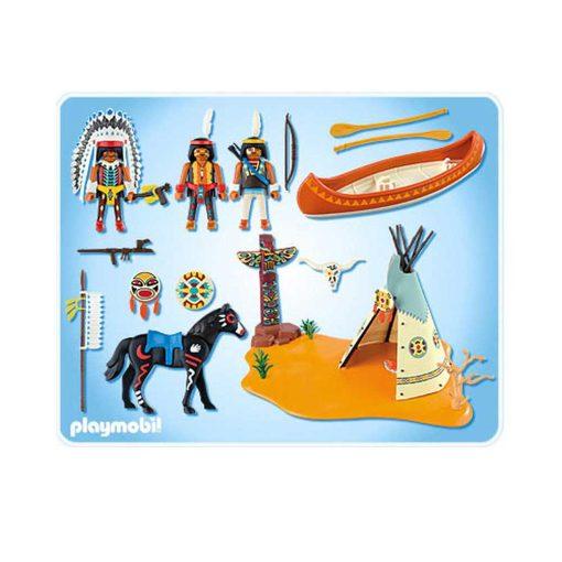 Playmobil Indianerlejr 4012 indhold