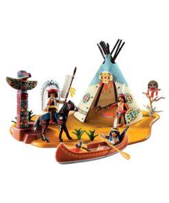 Playmobil Indianerlejr 4012 opstilling