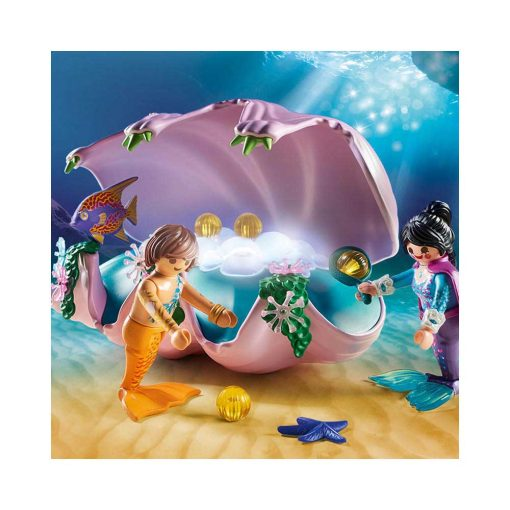 Playmobil havfrue natlampe musling 70095 illustration