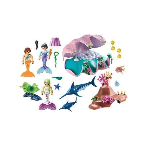 Playmobil havfrue natlampe musling 70095 indhold