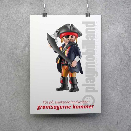 Playmobil pirat plakat grøntsager