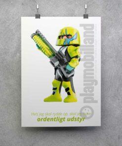 Playmobil Space plakat oprydning