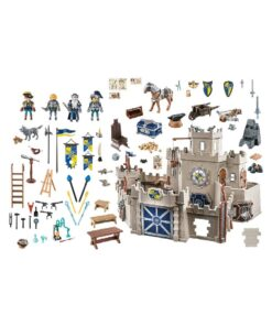 stort Playmobil Novelmore slot 70220 wolfshaven - indhold