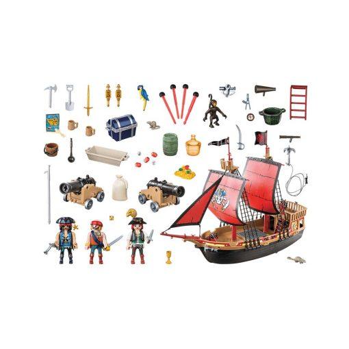 Playmobil piratskib 70411 dødnigehoved kampskib indhold