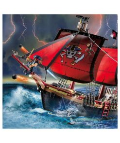 Playmobil piratskib 70411 dødnigehoved kampskib illustration