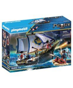 Playmobil Rødjakkesejler skib 70412 kasse