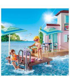Playmobil iskiosk ved havnen 70279 badebro