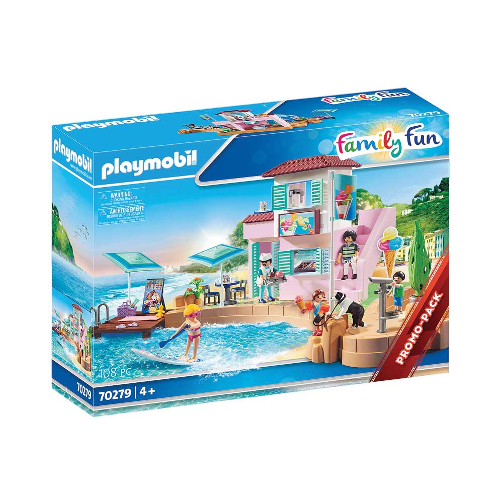 Playmobil iskiosk ved havnen 70279 kasse
