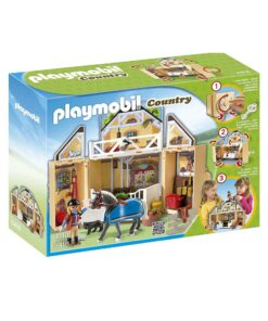 Tag-med Playmobil ponygård æske