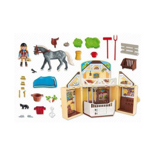 Tag-med Playmobil ponygård indhold