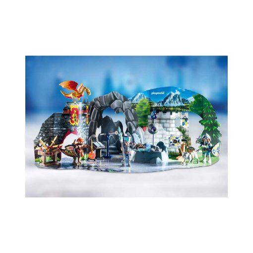 Playmobil julekalender 70187 kampen om den magiske sten opstilling
