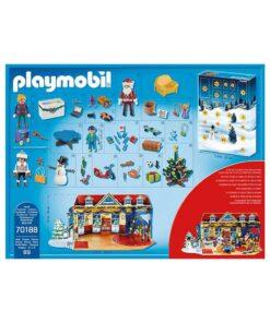 Playmobil 70188 julekalender jul i legetøjsbutikken bagside og indhold