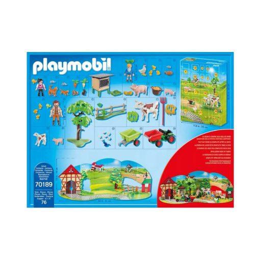 Playmobil 70189 julekalender på gården indhold