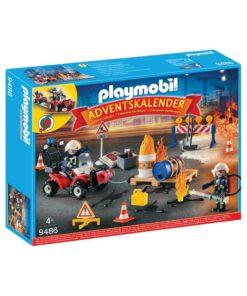 Playmobil julekalender 9486 brand på byggepladsen
