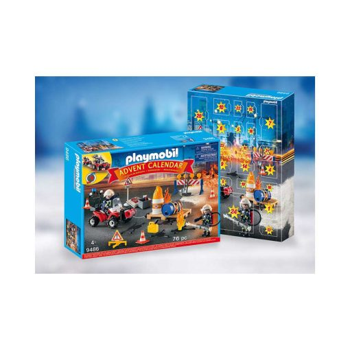 Playmobil julekalender 9486 brand på opstilling