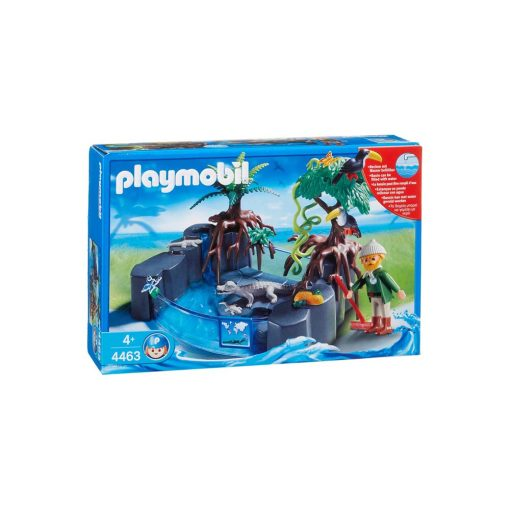 Playmobil krokodille bassin 4462 æske