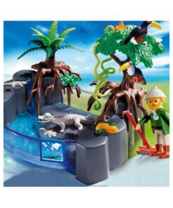 Se Playmobil krokodille bassin 4462