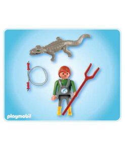 Playmobil dyrepasser med krokodille 4465 indhold