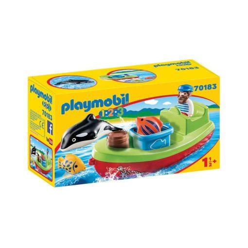 Playmobil båd med fisker 70183 kasse