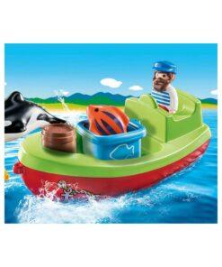 Playmobil båd med fisker 70183 billede