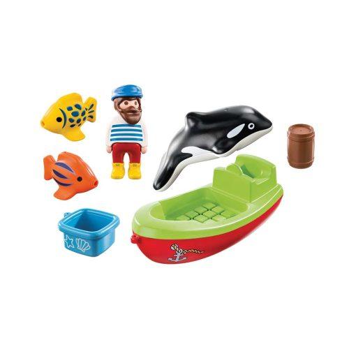 Playmobil båd med fisker 70183 indhold