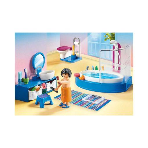 Playmobil dukkehus badeværelse med badekar 70211 indretning