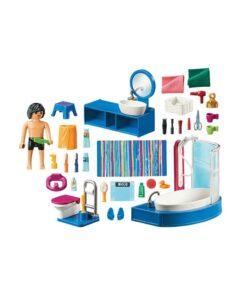 Playmobil dukkehus badeværelse med badekar 70211 indhold