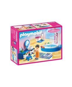 Playmobil dukkehus badeværelse med badekar 70211 kasse