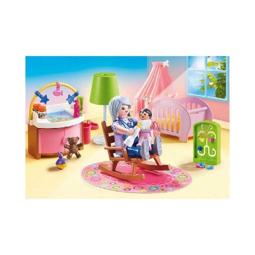PLaymobil dukkehus børneværelse baby 70210 gyngestol