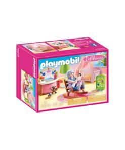 PLaymobil dukkehus børneværelse baby 70210 kasse