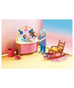PLaymobil dukkehus børneværelse baby 70210 puslebord
