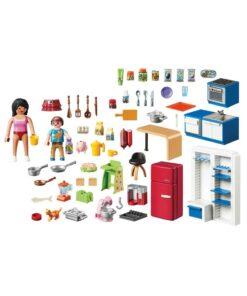 Playmobil dukkehus køkken 70206 indhold