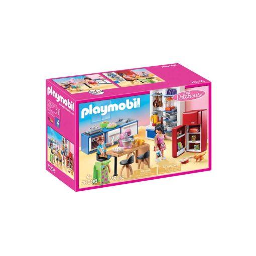moderne Playmobil dukkehus køkken 70206 æske