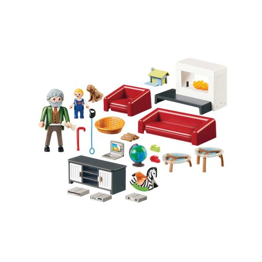 Playmobil dukkehus hyggelig stue 70207 indhold