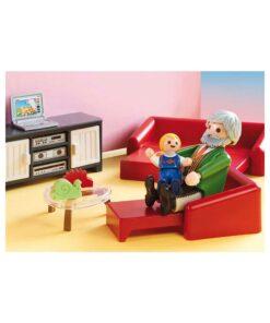 Playmobil dukkehus hyggelig stue 70207 sofa