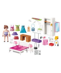 Playmobil dukkehus soveværelse med systue 70208 indhold