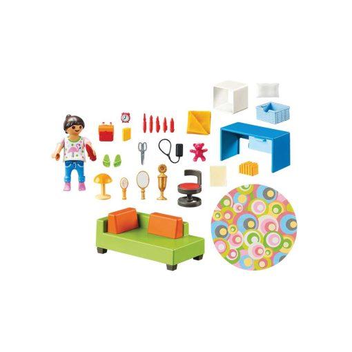 Playmobil dukkehus teenageværelse med sofaseng 70209 indhold