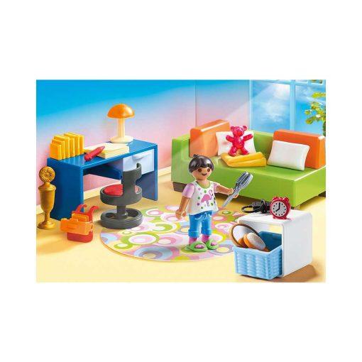 Playmobil dukkehus teenageværelse med sofaseng 70209 indretning