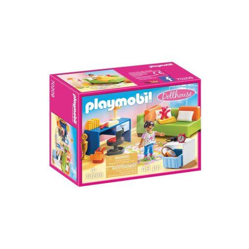 Playmobil dukkehus teenageværelse med sofaseng 70209 kasse