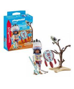 Playmobil indianer høvding 70062 indhold og kasse