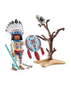 Playmobil indianer høvding indhold 70062