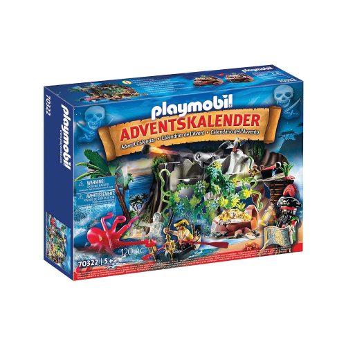 Playmobil julekalender 70322 skattejagt i piratbugten kasse